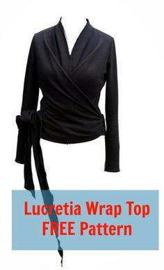 The Wrap Top Free Pattern is for a pretty fitted wrapped blouse with no darts. The pattern only includes the front part pattern of the Lucretia wrap top in size 42 and doesn't include seam allowances. This top is a nice top … Continued