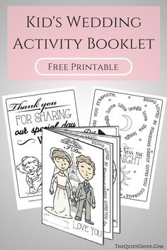 Keep your little guests happy and entertained at your upcoming Wedding with this FREE Printable Kid's Wedding Activity Booklet!