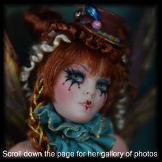 Bohemian Circus Faerie Art doll Fairies by Candace Taylor #cbcstudio Fantasy