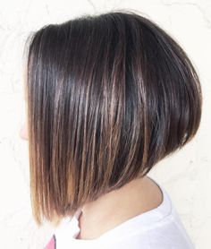 Angled Stacked Bob For Straight Hair
