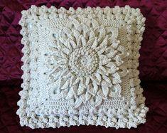 Knitting Patterns Pillow Crochet pillow cover Decorative cotton pillow Throw light-beige pillow Natural knit pillow ECO home . Crochet Cushions, Crochet Pillow, Crochet Blanket Patterns, Knitting Patterns, Beige Pillows, Throw Pillows, Crochet Table Runner, Cat Pillow, Crochet Home Decor