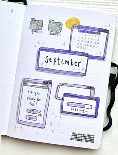 If you're looking for some September Bullet Journal Cover ideas, this post is PEREFCT for you! - september bullet journal cover easy, september bullet journal cover simple, september bullet… August Bullet Journal Cover, Bullet Journal Cover Ideas, Bullet Journal Mood, Bullet Journal Aesthetic, September, Simple, Bujo, Easy, Berries