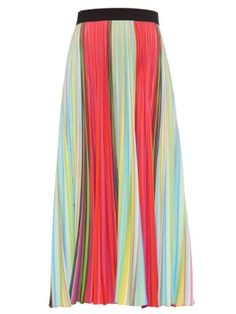 Uni pleated midi skirt | Mary Katrantzou | MATCHESFASHION.COM AU