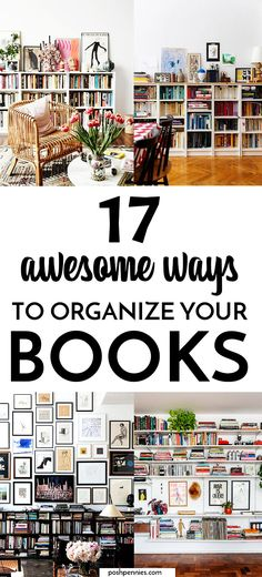 Need some ideas for organizing that big book collection? I got you covered. Check out these 17 sweet tips and satisfy your inner librarian. You can be organized and chic at the same time! Learn How to organize books & bookshelves like a pro. #books #homeorganization #shelfie #shelfstyling #bookdecor Interior Design Magazine, Interior Photo, Bookshelf Organization, Stack Of Books, Shelfie, Pennies, Book Collection, Bookshelves, Organizing