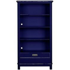 Boardwalk Bookcase with 1 Drawer in Blueberry
