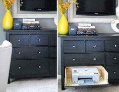 Guarda tu impresora en un cajón secreto.