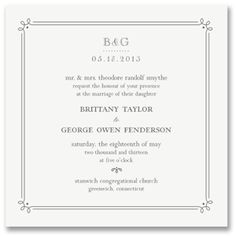 Elegant Lace Large White Square Wedding Invitations, Style Me Pretty by William Arthur