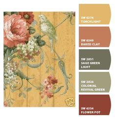 ― Eades Discount Wallpaper & Discount Fabric LOVE the vibrant colors! Indoor Paint Colors, Paint Colors For Home, Room Colors, House Colors, Discount Wallpaper, Paint Color Schemes, Paint Color Palettes, Sherwin William Paint, Colour Board