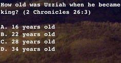 How old was Uzziah when he became king?