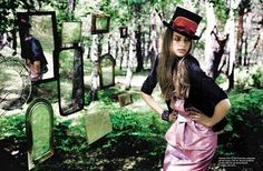 alice in wonderland photo shoot | ... picture of a Alice in Wonderland inspired shoot in Marie Claire