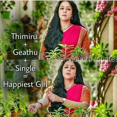 Jyothika ❤️ Movie Love Quotes, Favorite Movie Quotes, Like Quotes, Real Life Quotes, Reality Quotes, Picture Quotes, Single Girl Quotes, Crazy Girl Quotes, Funny Girl Quotes