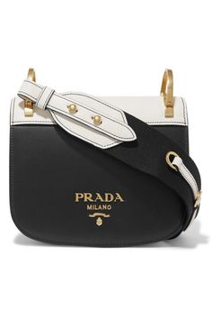 60ed478fd2 Black and white leather (Calf) Snap-fastening front flap Comes with dust bag