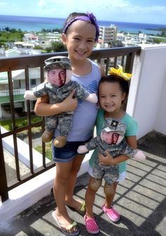 From Japan Happy Military kids with their Deployment Dolls!!