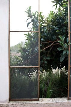 fenetre 田 window nature jungle plants greenery verdure vegetation Scandinavian Style, Window View, Open Window, Window Detail, Through The Window, Interior Exterior, Exterior Design, Interior Windows, Interior Modern