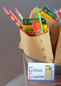 Back to school party favors! See more party planning ideas at CatchMyParty.com!