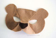 felt bear mask pattern