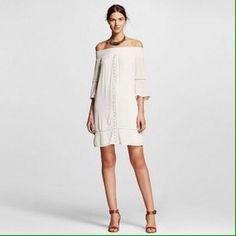 New Mossimo White Off Shoulder White Eyelet Dress