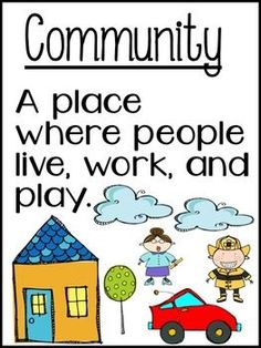 Free!  Life In Communities Vocabulary posters!
