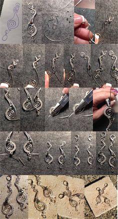 Silver Wrapped Earring Tutorial - by Katalin KB Walcott