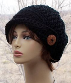 Check out this item in my Etsy shop https://www.etsy.com/listing/590657179/womens-crochet-hat-asymmetrical-brim-hat