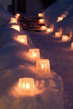 Isstjerne - Lav flotte lysende isstjerner!