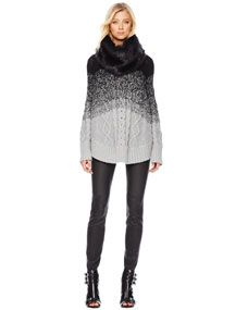 loving this poncho! Knit Poncho, Cold Weather Fashion, Cloth Bags, Clothes Horse, Skinny Pants, Autumn Winter Fashion, Turtle Neck, Menswear, Michael Kors
