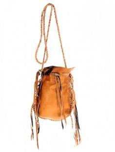 Scoop NYC   Vanessa Mooney :: Fringe Medicine Bag - Brown :: Shoulder Bags -