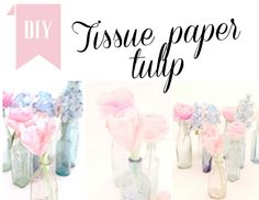 Love this >> tissue paper tulip tutorial + the whole blog