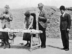 An poster sized print, approx (other products available) - Dividing the Finds - Iraq - Archaeology - Gertrude Bell - Image supplied by Mary Evans Prints Online - Poster printed in the USA Fine Art Prints, Framed Prints, Canvas Prints, Gertrude Bell, Baghdad, A0 Poster, Archaeology, Poster Size Prints, Online Printing