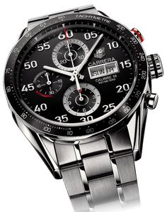 The ultimate reference in luxury chronograph watches, TAG Heuer's high-precision timing innovations have kept pace with the evolution of sports since Fine Watches, Cool Watches, Watches For Men, Ladies Watches, Luxury Watches, Rolex Watches, Fossil, Carrera Watch, Mens Watches Online