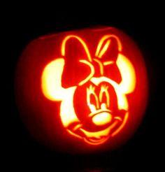 Minnie Mouse Halloween Pumpkin Carving design