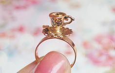 gold, ring, teacup