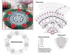 Delicadezas en crochet Gabriela: 25 Patrones de carpetas