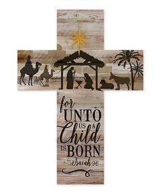 P. Graham Dunn A Child Is Born Cross Wall Sign | zulily