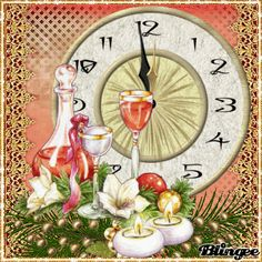 Happy New Year Bilder, Animated Love Images, Merry Christmas, Christmas And New Year, Animation, Frame, Cards, Fantasy, Happy
