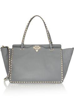 Valentino | The Rockstud medium leather trapeze bag | NET-A-PORTER.COM