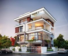 We always try to focus on designing Unique & Unseen Modern House. One such modern home designed by Architecture Building Design, Home Building Design, Home Design, Modern Architecture, 3 Storey House Design, Bungalow House Design, House Front Design, Modern Small House Design, House Extension Design