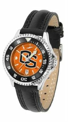 Oregon State Beavers Ladies Leather Wristwatch by SunTime. $79.95. Officially Licensed Oregon State Beavers Ladies Leather Wristwatch. Water Resistant. Women. Poly/Leather Band. Adjustable Band. Oregon State Beavers Ladies Leather Wristwatch with AnoChrome face. The Beavers wrist watch has functional rotating bezel color-coordinated with team logo. A durable, long-lasting combination nylon/leather strap, together with a date calendar make this the ultimate watch to have....