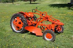 allis chalmers model g | 371: Allis Chalmers Model G tractor w/plow - restored &