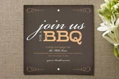 Summer BBQ Party Invite Inspirations!  (personal note - join us is Bickham Script Three font)