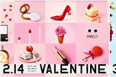 PARCO VALENTINE AND WHITEDAY | creative studio ouwn Valentine Poster, Valentine Banner, Valentines Design, Flyer And Poster Design, Poster Layout, Flyer Design, Web Panel, White Day, Creative Advertising