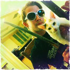 macaulay culkin + cat