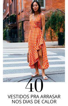 40 vestidos para o verão! Girl Fashion, Fashion Outfits, Womens Fashion, Beach Dresses, Summer Dresses, Cool Outfits, Summer Outfits, Daily Dress, Glamour
