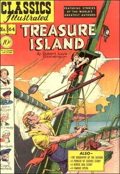 classics illustrated images | Classics Illustrated 064 Treasure Island (1949) comic books
