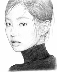 Art Drawings Sketches Simple, Kpop Drawings, Pencil Drawings, Kai Arts, Eye Drawing Tutorials, Drawing Now, Aesthetic Drawing, Kpop Fanart, Art Reference