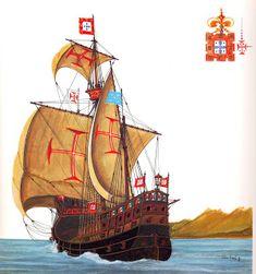 Marina Real, History Of Portugal, Age Of Discovery, Old Sailing Ships, Knights Templar, Tall Ships, Model Ships, King Kong, Sailboat