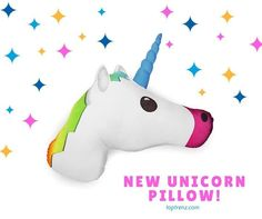 'Mojicon UNICORN Plush Comfy Throw Pillows 14 Inches *Strawberry SCENTED (ships in 2 days)