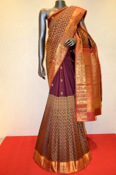 Bridal Maroon Exquisite Kanjeevaram Silk Saree Product Code: AB212878 Online Shopping: http://www.janardhanasilk.com/index.php?route=product/product&search=AB212878&description=true&product_id=4239