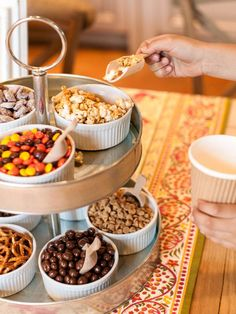 Sweets & Treats  - Set Up a Thanksgiving Snack Mix Station for Kids  on HGTV