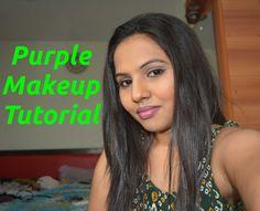 Purple Full Face Makeup Tutorial http://youtu.be/f80j-DrWCAw
